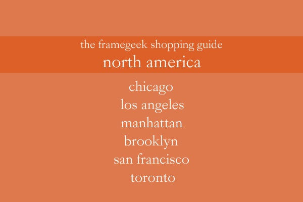 Frame Geek Shopping Guide North America Frame Geek Shopping Guide: North America