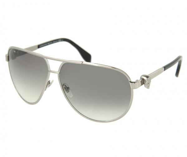 Alexander McQueen Skull Temple Aviator Sunglasses 1 Alexander McQueen Skull Temple Aviator Sunglasses