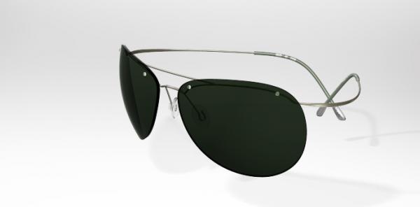 Picture 75 Silhouette Sun Titan Minimal Art Pilot Sunglasses