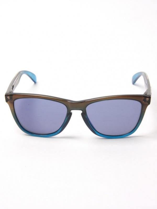 Oakley Rootbeer Cyan Frogskin Sunglasses 2 Oakley Rootbeer Cyan Frogskin Sunglasses