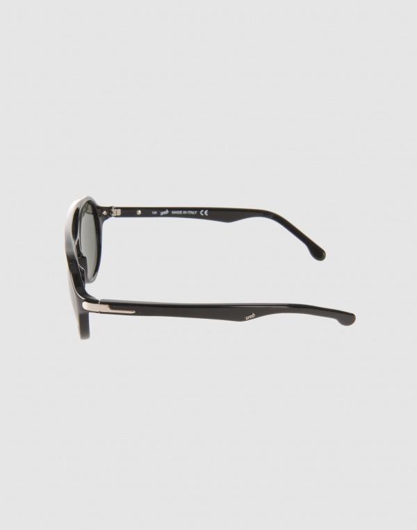 ad032511452 Web Eyewear Black Round Acetate Sunglasses