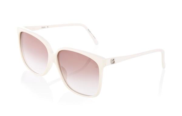 Emmanuelle Khanh Vintage White Rounded Frame Sunglasses Emmanuelle Khanh Vintage White Rounded Frame Sunglasses