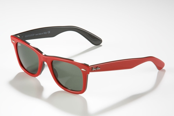 Red Plastic Wayfarers by Ray Ban Red Plastic Wayfarers by Ray Ban