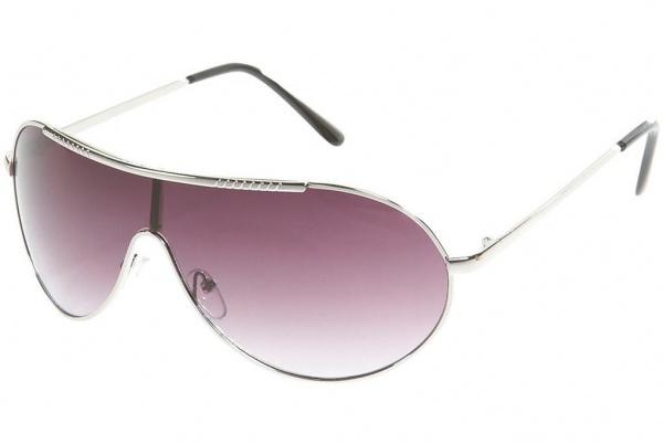 Silver Metal Visor Sunglasses Topman Silver Metal Visor Sunglasses