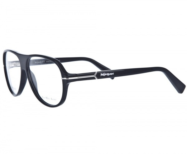 Yves Saint Laurent Black Framed Glasses01 Yves Saint Laurent Rounded Black Framed Glasses