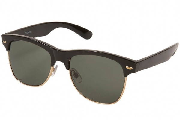 topman black sunglasses Topman Black Clubman Retro Sunglasses