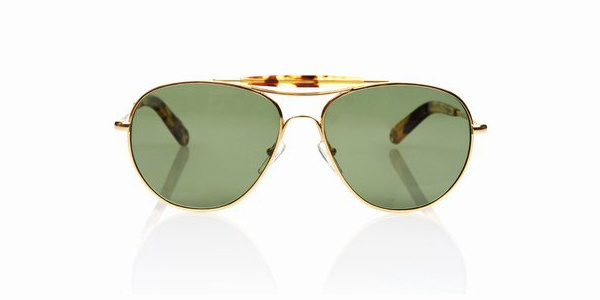 Garrett Leight Speedway Sunglasses in Gold Garrett Leight Speedway Sunglasses in Gold
