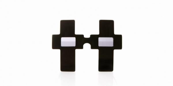 Jeremy Scott x Linda Farrow Vintage Black Cross Sunglasses Jeremy Scott x Linda Farrow Vintage Black Cross Sunglasses
