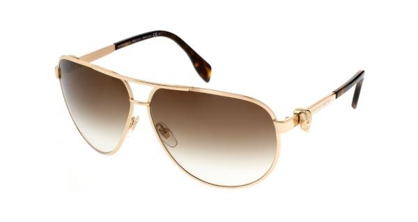 Alexander McQueen Gold Skull Aviator Sunglasses 1 Alexander McQueen Gold Skull Aviator Sunglasses