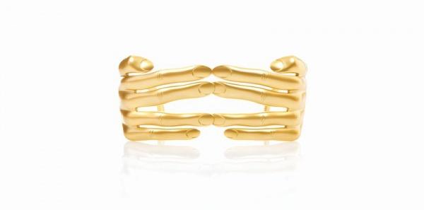 Jeremy Scott x Linda Farrow Vintage Hands Sunglasses in Gold Jeremy Scott x Linda Farrow Vintage Hands Sunglasses in Gold