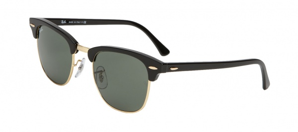 Ray Ban Classic Clubmaster Sunglasses in Black Ray Ban Classic Clubmaster Sunglasses in Black