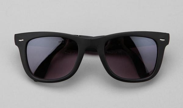 Rubberized Folding Wayfarer Sunglasses 1 Rubberized Folding Wayfarer Sunglasses