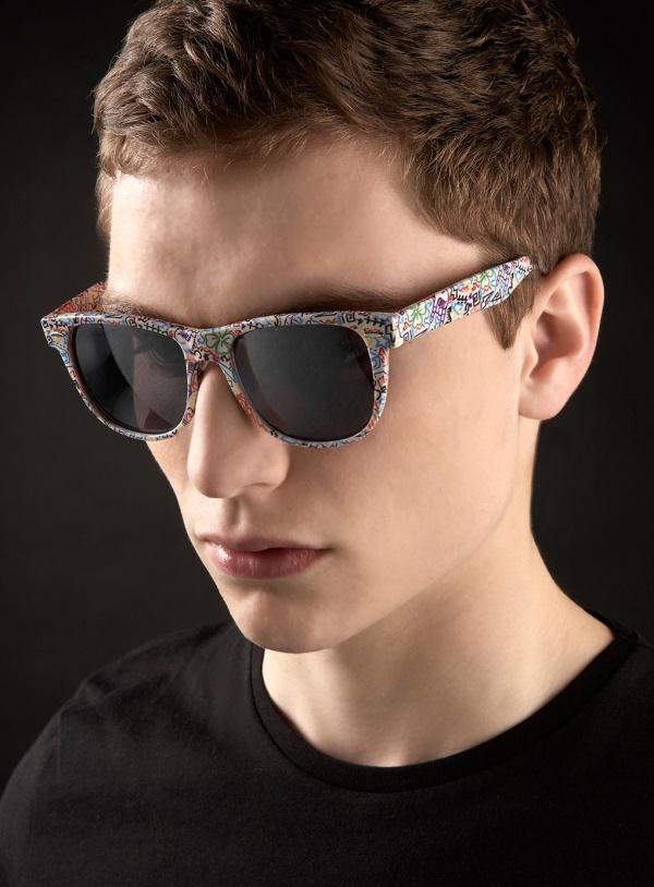 Teenage Cancer Trust White Doodle 50s Classic Sunglasses Teenage Cancer Trust White Doodle 50s Classic Sunglasses
