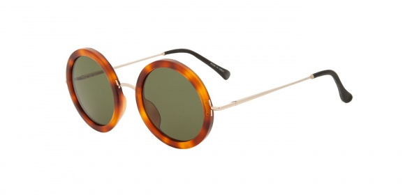 The Row for Linda Farrow Round Eye Tortoise Sunglasses 1 The Row for Linda Farrow Round Eye Tortoise Sunglasses