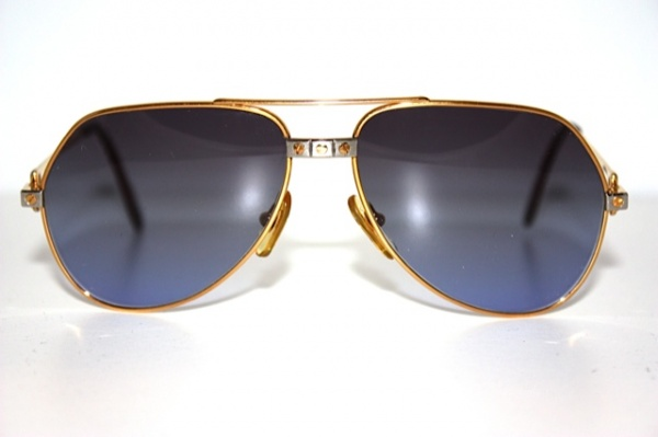 Cartier 24k Gold Aviator1 Cartier Vintage Vendome Santos 24K Gold