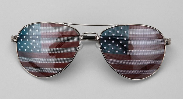 Flag Aviator Sunglasses Flag Aviator Sunglasses