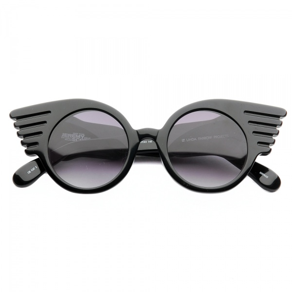scott sunglasses eaoi  Winged Sunglasses by Jeremy Scott for Linda Farrow Projects