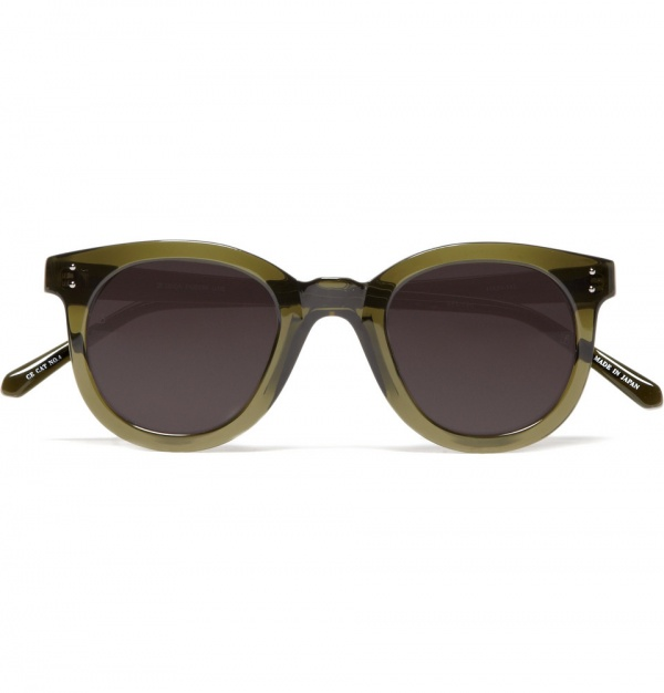 301815 mrp in xl Linda Farrow Luxe Transparent Green Sunglasses