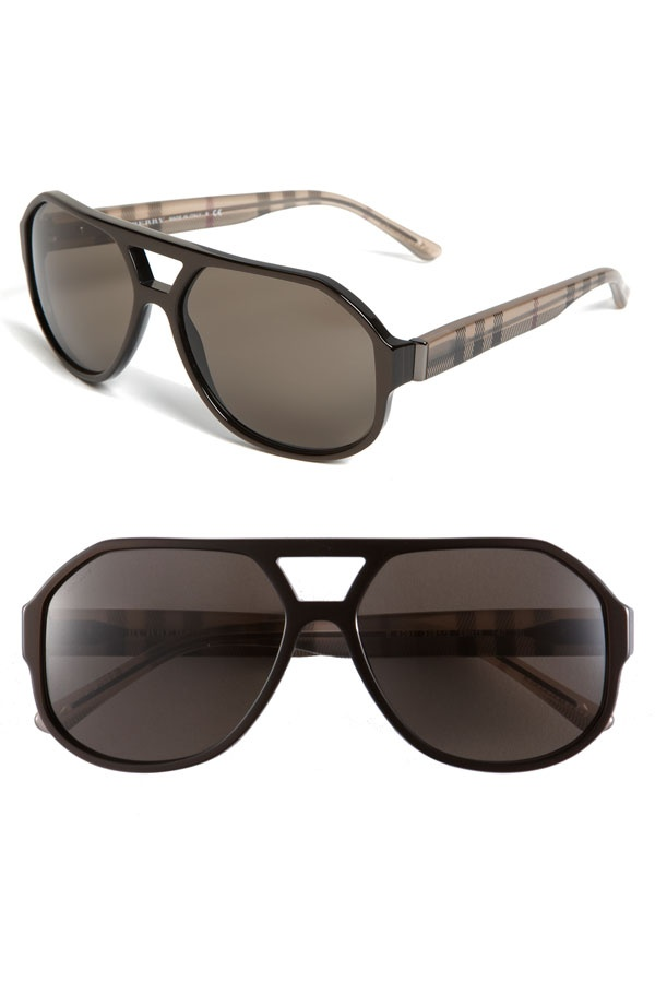 Burberry Double Bridge Aviator Sunglasses Burberry Double Bridge Aviator Sunglasses