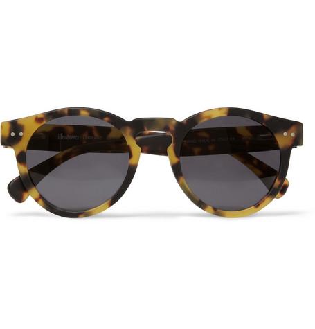 324856 mrp in l Illesteva Leonard Matte Tortoiseshell Acetate Sunglasses