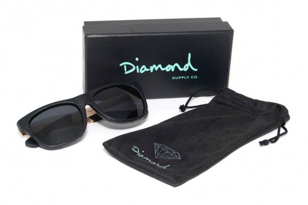 diamond supply co leather wrapped sunglasses 1 Diamond Supply Co. Leather Wrapped Sunglasses