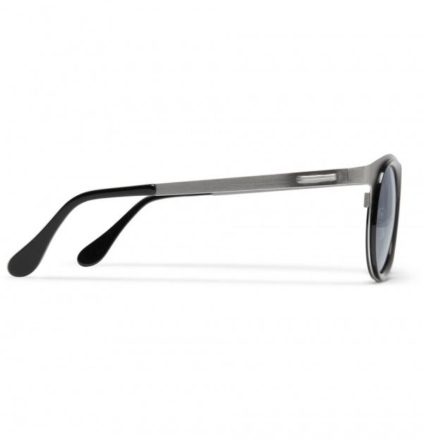 347827 mrp e2 xl Maison Martin Margiela Round Framed Metal Sunglasses