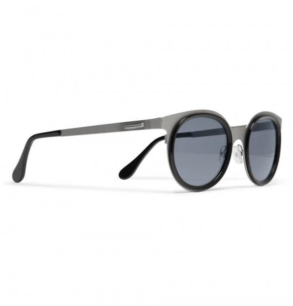 347827 mrp fr xl Maison Martin Margiela Round Framed Metal Sunglasses