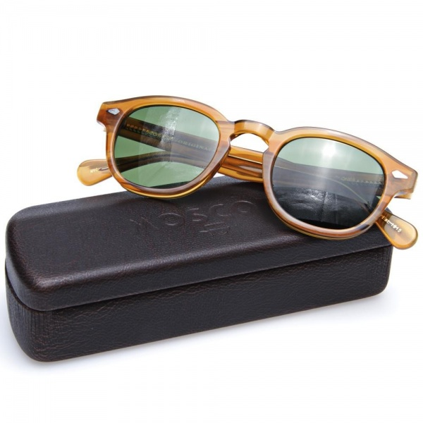 17 04 2013 moscot lemtoshsunglasses blondegreenlenses d3 Moscot Lemtosh Sunglasses