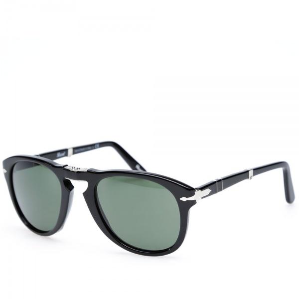 18 11 2013 persol 714foldable black 1 Persol 714 Folding Aviator Sunglasses