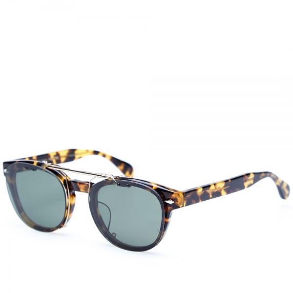 15 05 2014 maisonkitsune oliverpeoplestokyoclipsunglasses darktortoisebrowngreen 2 Maison Kitsune x Oliver Peoples Tokyo Clip Sunglasses