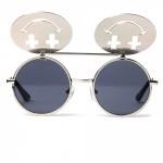 Jeremy Scott Linda Farrow Projects Shiny Silver Smile Sunglasses 2 150x150 Jeremy Scott & Linda Farrow Projects Shiny Silver Smile Sunglasses