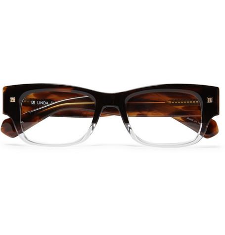 Linda Farrow Luxe Half Clear Optical Glasses Frame Geek